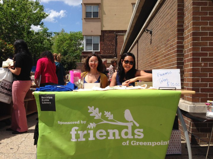 Friends of Greenpoint Library at their previous branch.