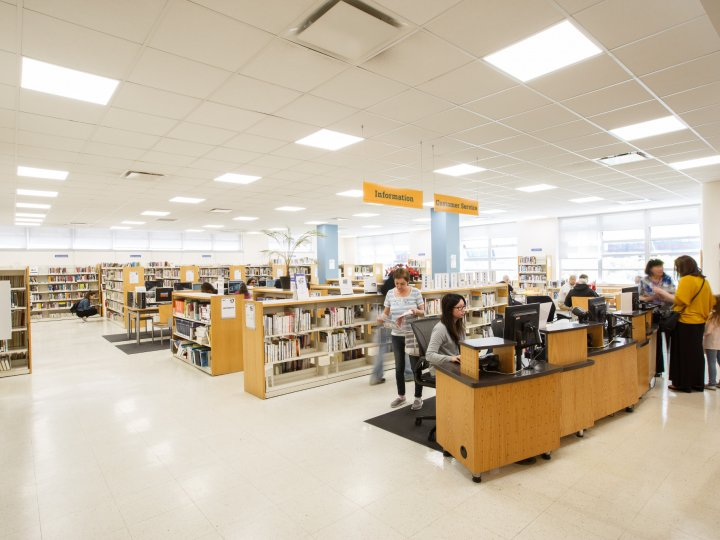 Interior of Kings Highway Library