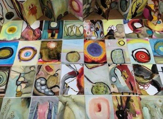 facing pages by Nina Meledandri