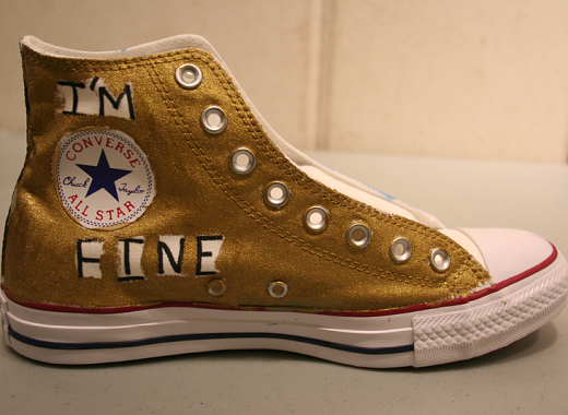 Sneakers for Social Justice: Crystal Barkie/ Depression, 3rd prize