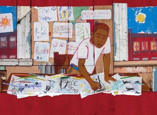 Radiant Child by Javaka Steptoe, BPL Exhibition