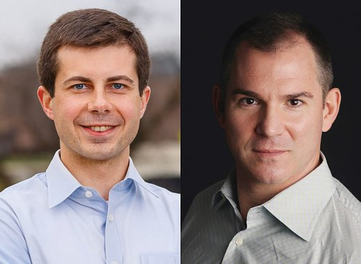 South Bend Mayor Pete Buttigieg in conversation with Frank Bruni