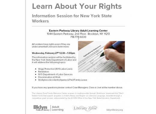 Learn About Your Rights: Information Session for New York State Workers