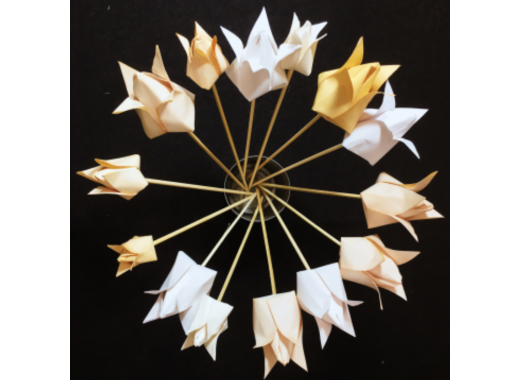 Three Romantic Craft Workshops: Tea Stained Origami Flower Bouquet