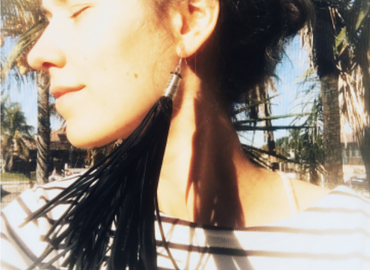 Three Romantic Craft Workshops: Leather Fringe Earrings