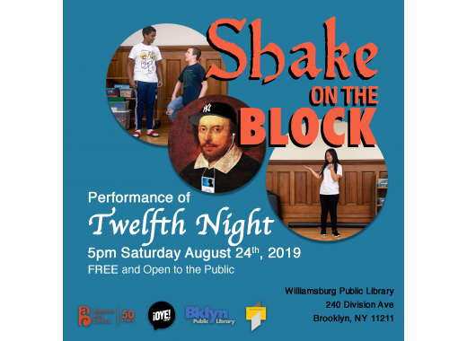 Shake on the Block Performs 'Twelfth Night'