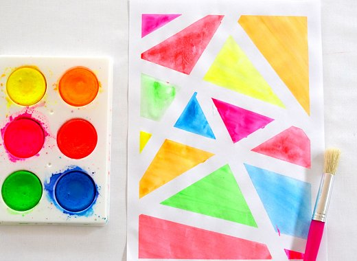 Kids Create! Grab & Go Kits - Tape Resist Watercolor Art