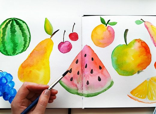 Craft-Along: Fun Summer Fruits (Watercolor)