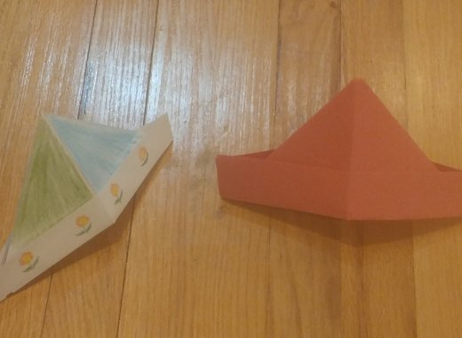 Kids Create: Origami (Paper Hats)