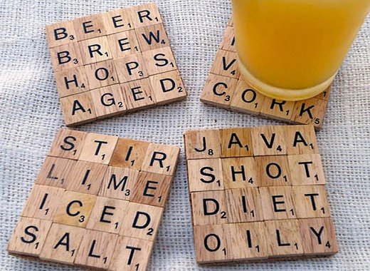 Adult Grab & Go: Scrabble Coaster Making Kit