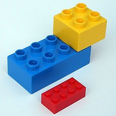 Build with Lego and Duplo
