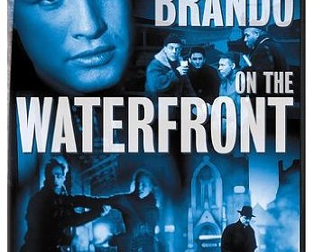 Cover to DVD for On The Waterfront. Reads