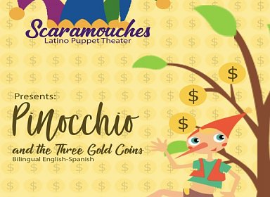 PINOCCHIO AND THE THREE GOLD COINS