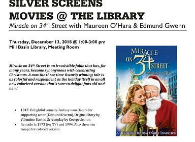 Movies@ the Library: Silver Screens: Miracle on 34th Street