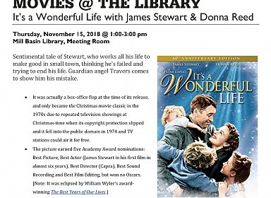 Movies @ the Library: Silver Screens: It's A Wonderful Life