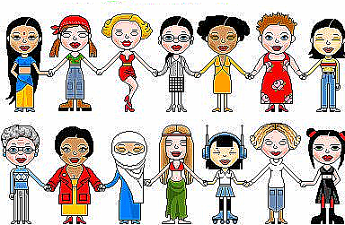 Illustration of diverse group of women