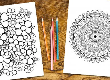 Older Adult Stress Relief Coloring Programming