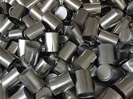 Many tin cans without labels