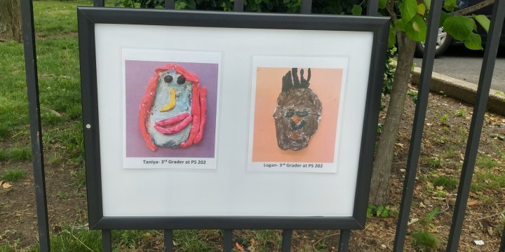 Work by young artists, New Lots Library