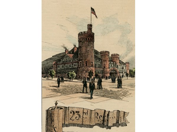 print of 23rd regiment armory