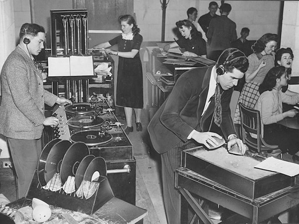 Photo of students with radio equipment