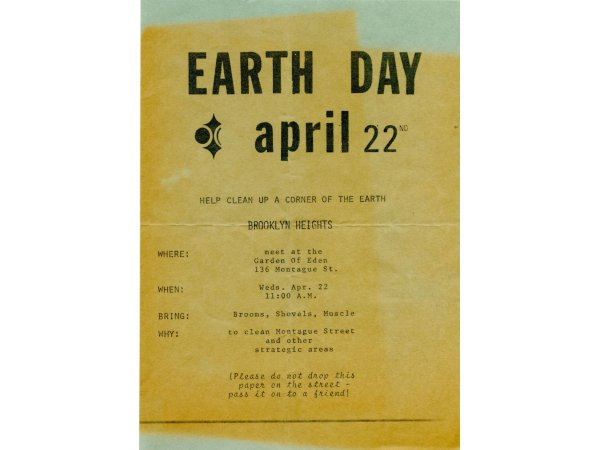 Earth Day 1970 flyer