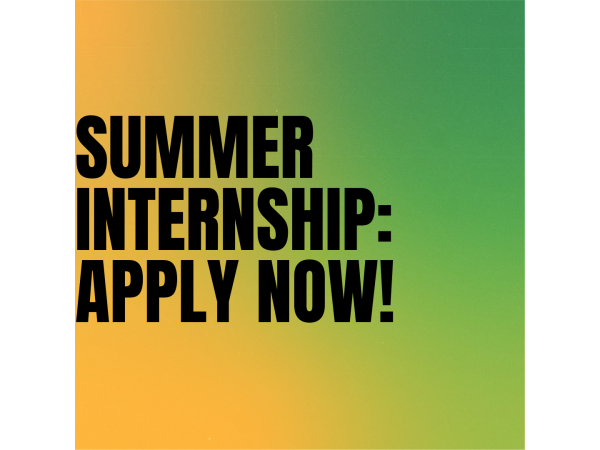 Summer Internship: Apply now!