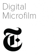 New York Times Digital Microfilm logo